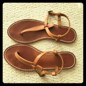Gap Size 7.5 Tan Leather sandals